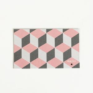 M-25 messagecard ★ géométrique rose&gris 30枚