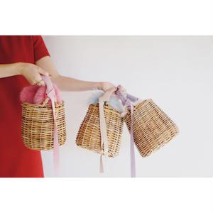 bonbon basket(mauve pink/mauve lavender/sky blue)