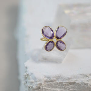 amezist papillon ring