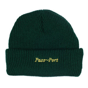 PASS~PORT SCRIPT BEANIE GREEN