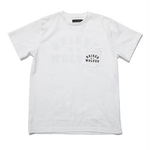 RAISED BY WOLVES MIRROR POCKET T-SHIRTS  WHITE