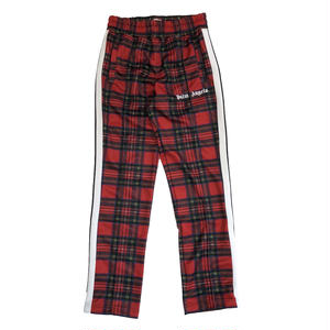 PALM  ANGELS  TARTAN TRACK PANTS RED