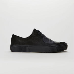 BOTH PARIS Rubber Patch Low-top With Graphic Foxing BLACK
