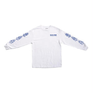 """PASS~PORT """"FOUNTAINS FOR LIFE"""" L/S TEE WHITE"""