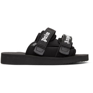 PALM  ANGELS  SUICOKE SLIDER BLACK