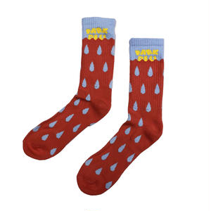 PARK DELICATESSEN DROPLET SOCKS PINK