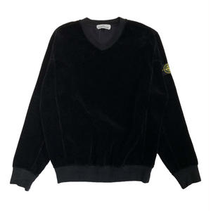 STONE ISLAND CORDUROY SWEAT SHIRT BLACK 65839