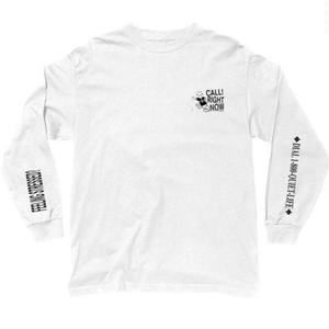 THE QUIET LIFE   STRESSED OUT LONG SLEEVE T WHITE