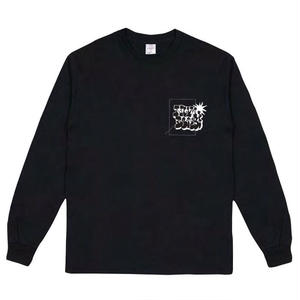 NUMBERS EDITION BOMBED LOGOTYPE L/S TEE BLACK
