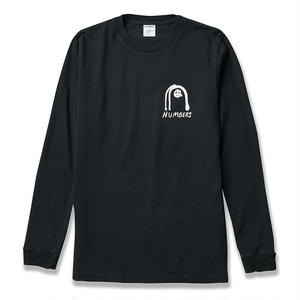 NUMBERS EDITION COLLAGE  L/S T-SHIRT BLACK
