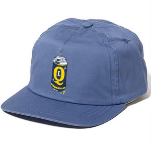 THE QUIET LIFE BEER CAN RELAXED FIT SNAPBACK HAT  SLATE BLUE