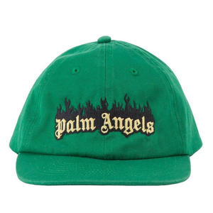 PALM  ANGELS BURNING LOGO CAP GREEN