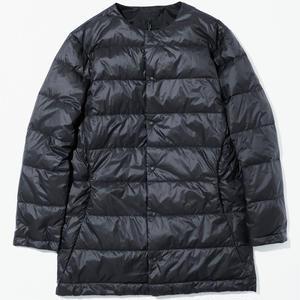 GOLDWIN COLLAR LESS DOWN COAT BLACK