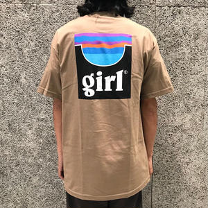 GIRL SKATEBOARDS PIPE TEE SAFARI GREEN