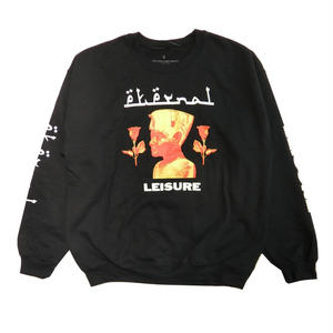 JUNGLES  ETERNAL LEISURE CREWNECK     BLACK
