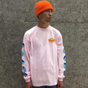 TIRED SKATEBOARDS DINER LONG SLEEVE TEE PINK