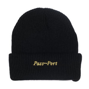 PASS~PORT SCRIPT BEANIE BLACK
