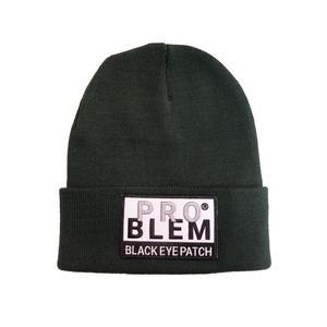 BLACK EYE PATCH PLOBLEM KNIT CAP GREEN
