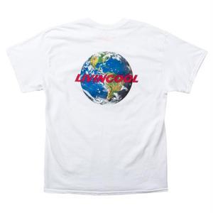 LIVINCOOL WORLD LOGO WHITE T-SHIRT