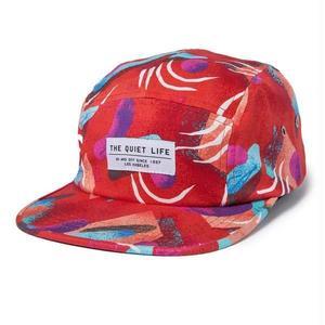 THE QUIET LIFE GIBBLER 5 PANEL CAMPER HAT RED