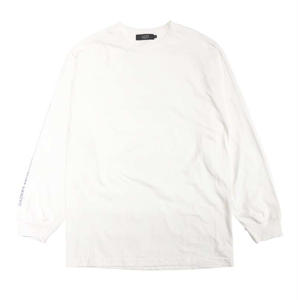 DIASPORA SKATEBOARDS LONG LETTER LS TEE WHITE