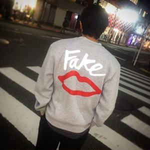 SEX SKATEBOARDS FAKE CREW NECK GREY