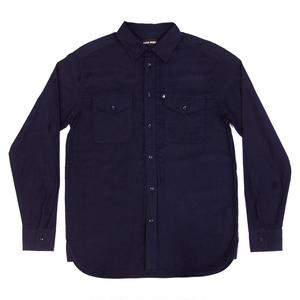 PASS~PORT WORKERS LATE FLANNELETTE SHIRTS NAVY
