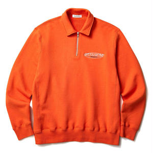 BLACK EYE PATCH HALF ZIP SWEAT ORANGE