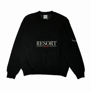 RESORT CORPS EQUIPMENT CREW NECK SWEATER BLACK