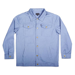 "PASS~PORT ""WORKERS"" LATE TWILL JACKET LIGHT BLUE"
