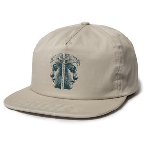 THE QUIET LIFE TWO FACED RELAXED SNAPBACK HAT STONE