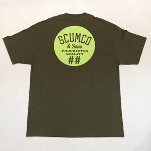 SCUMCO & SONS  TSHIRT FOREST  ARMY/MINT