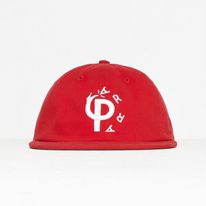 BY PARRA STOMP 6PANEL HAT RED