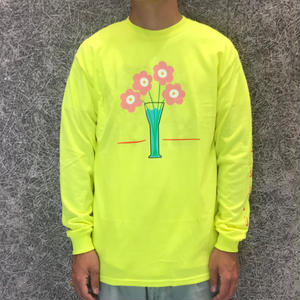 PARK DELICATESSEN FLOWER CARE LONG SLEEVE TEE SAFETY YELLOW