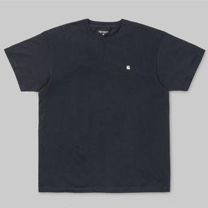 CARHARTT  WIP    S/S MADISON T-SHIRTS    NAVY /WHITE