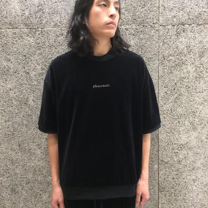 FUTUR INC PLEASE WAIT VELOUR TEE BLACK