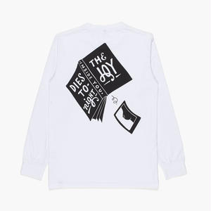 BY PARRA HORSE THE JOY INSIDE LONGSLEEVE T-SHIRTS WHITE