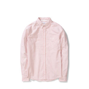 NORSE PROJECTS ANTON OXFORD SHIRTS BURNED RED STRIPE
