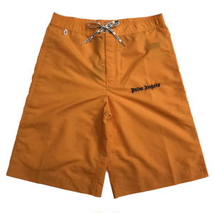 PALM ANGELS SUNDEK OVERBOARD SHORTS ORANGE