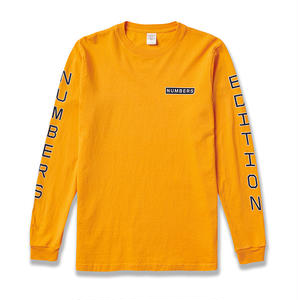 NUMBERS EDITION VERTICAL STACK L/S T-SHIRT  GOLD