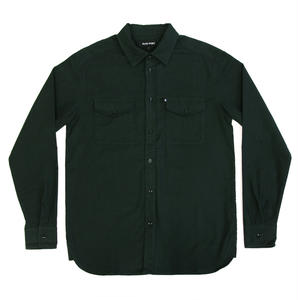 PASS~PORT WORKERS LATE FLANNELETTE SHIRTS FOREST GREEN