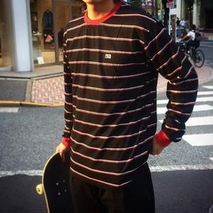 PSCN BORDER L/S T-SHIRT BLACK