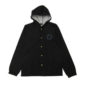 Diaspora Skateboards MC HOODED COACH JACKET BLACK