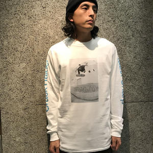 GIRL SKATEBOARDS CRACK RAIDER L/S TEE WHITE