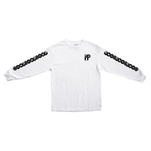 """PASS~PORT """"PP WORLD RECORDS"""" L/S TEE WHITE"""