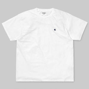 CARHARTT WIP   S/S MADISON T-SHIRTS  WHITE / BLUE