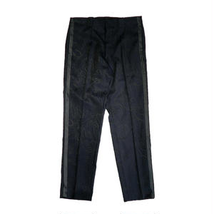 MAIDEN NOIR WOOL PAISLEY TROUSER NAVY