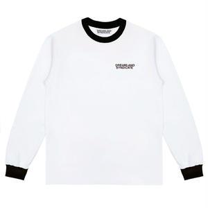 DREAMLAND SYNDICATE CONTRAST CORE LOGO LONGSLEEVE T-SHIRTS WHITE