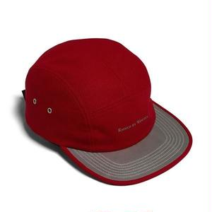 RAISED BY WOLVES 3M VISOR CAMP CAP RED