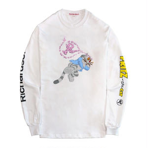 RICHARDSON FRITZ THE CAT SMOKED OUT LONGSLEEVE WHITE